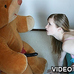 Girl with Teddy bear masturbating - 1 anal movies
